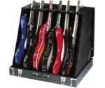 Stagg GDC-6, kufrový stojan pro 6 elektrických kytar - Stagg - Skládací stojan pro 6 elektrických nebo 3 akustické kytary