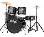 Stagg TIM122B BK, bicí sada, černá - Stagg - Bicí sada včetně činelů