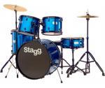 Stagg TIM122B BL, bicí sada, modrá - Stagg - Sada bicích 5-ti dílná