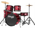 Stagg TIM122B WR, bicí sada, vínová - Stagg - Sada bicích 5-ti dílná