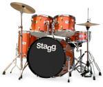 Stagg TIM322B SPBR, bicí sada, hnědá perleť - Stagg - Bicí sada včetně činelů