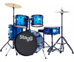 Stagg TIM120B BL, bicí sada, modrá - Stagg - Sada bicích s činely
