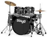 Stagg TIM322B SPBK, bicí sada, černá perleť - Stagg - Bicí sada s činely