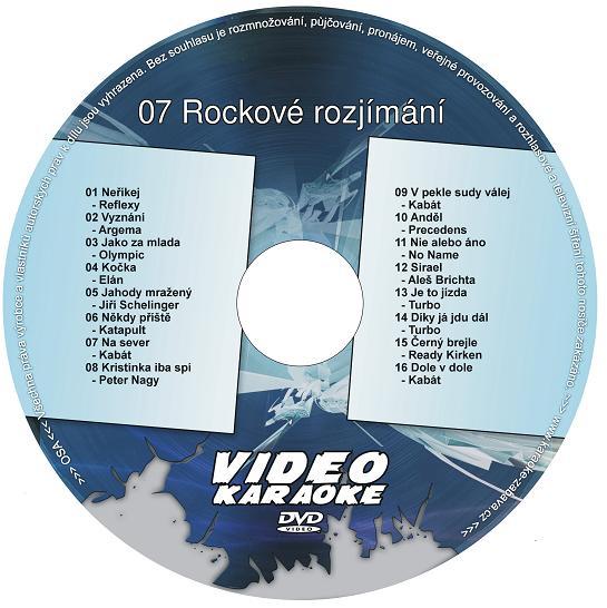 KARAOKE ZÁBAVA: Karaoke DVD 07 Rockové rozjímání