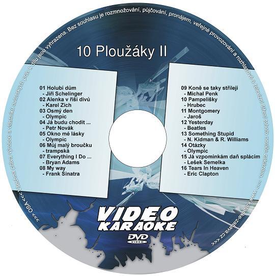 KARAOKE ZÁBAVA: Karaoke DVD 10 Ploužáky II