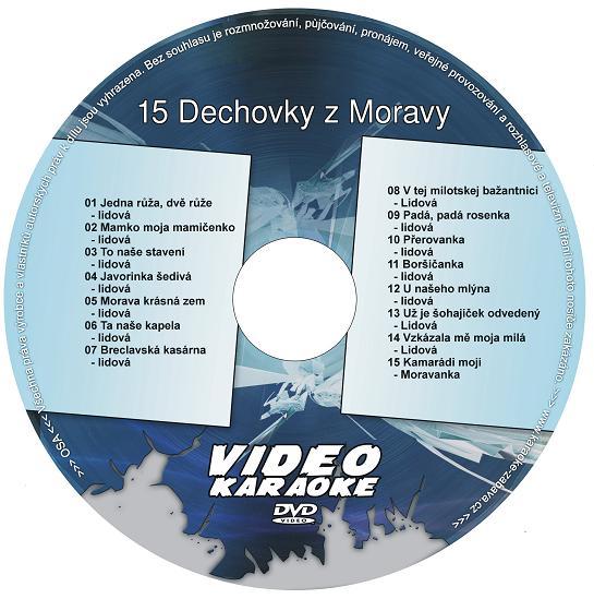 KARAOKE ZÁBAVA: Karaoke DVD 15 Dechovky z Moravy