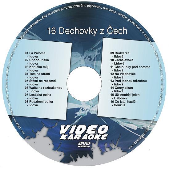 KARAOKE ZÁBAVA: Karaoke DVD 16 Dechovky z Čech