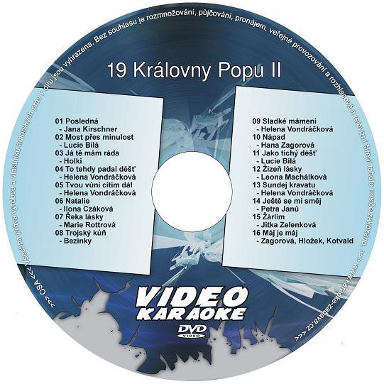 KARAOKE ZÁBAVA: Karaoke DVD 19 Královny Popu II