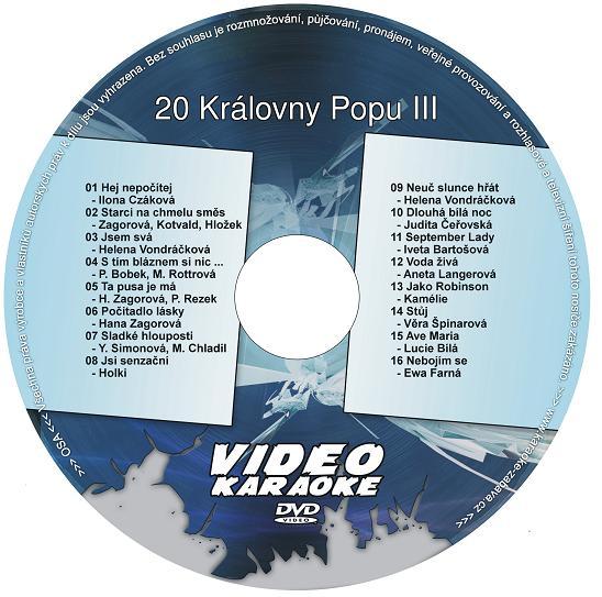 KARAOKE ZÁBAVA: Karaoke DVD 20 Královny Popu III