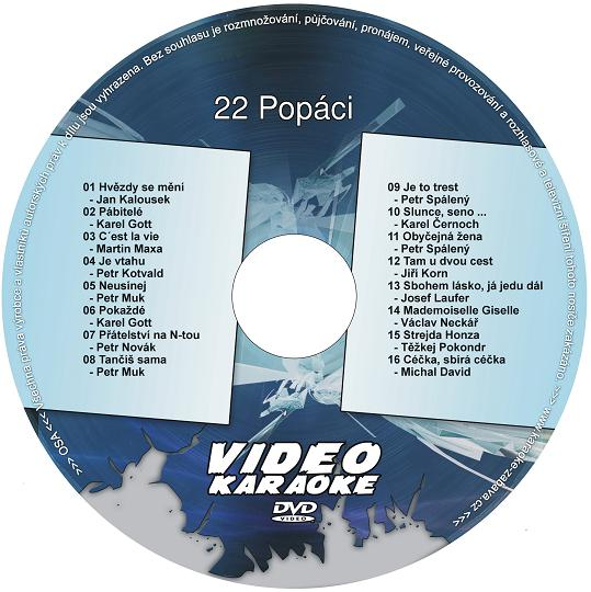 KARAOKE ZÁBAVA: Karaoke DVD 22 Popáci