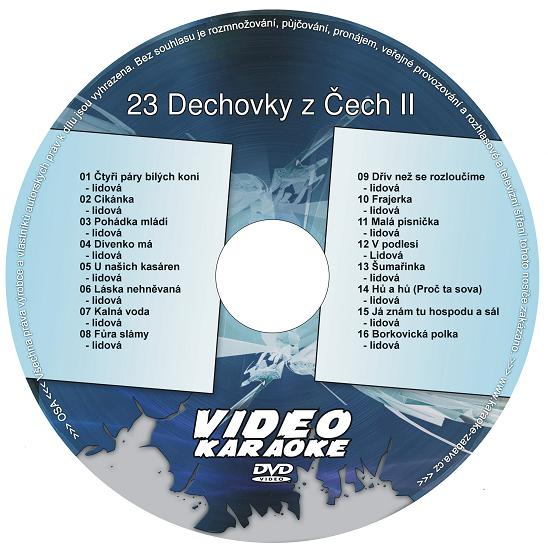 KARAOKE ZÁBAVA: Karaoke DVD 23 Dechovky z Čech II