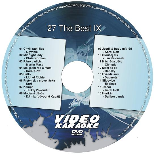 KARAOKE ZÁBAVA: Karaoke DVD 27 The Best IX