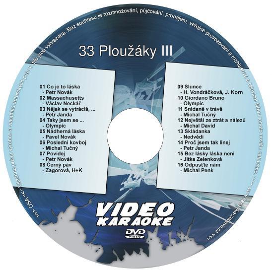 KARAOKE ZÁBAVA: Karaoke DVD 33 Ploužáky III