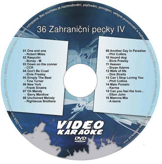 KARAOKE ZÁBAVA: Karaoke DVD 36 Zahraniční pecky IV