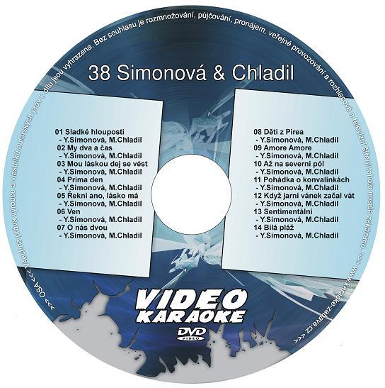 KARAOKE ZÁBAVA: Karaoke DVD 38 Duety Simonová + Chladil