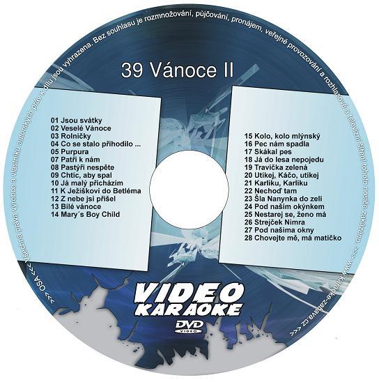 KARAOKE ZÁBAVA: Karaoke DVD 39 Vánoce II