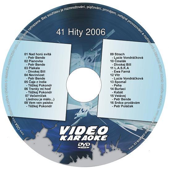 KARAOKE ZÁBAVA: Karaoke DVD 41 Hity 2006
