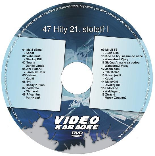 KARAOKE ZÁBAVA: Karaoke DVD 47 Hity 21. století I