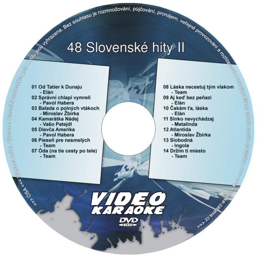 KARAOKE ZÁBAVA: Karaoke DVD 48 Slovenské hity II