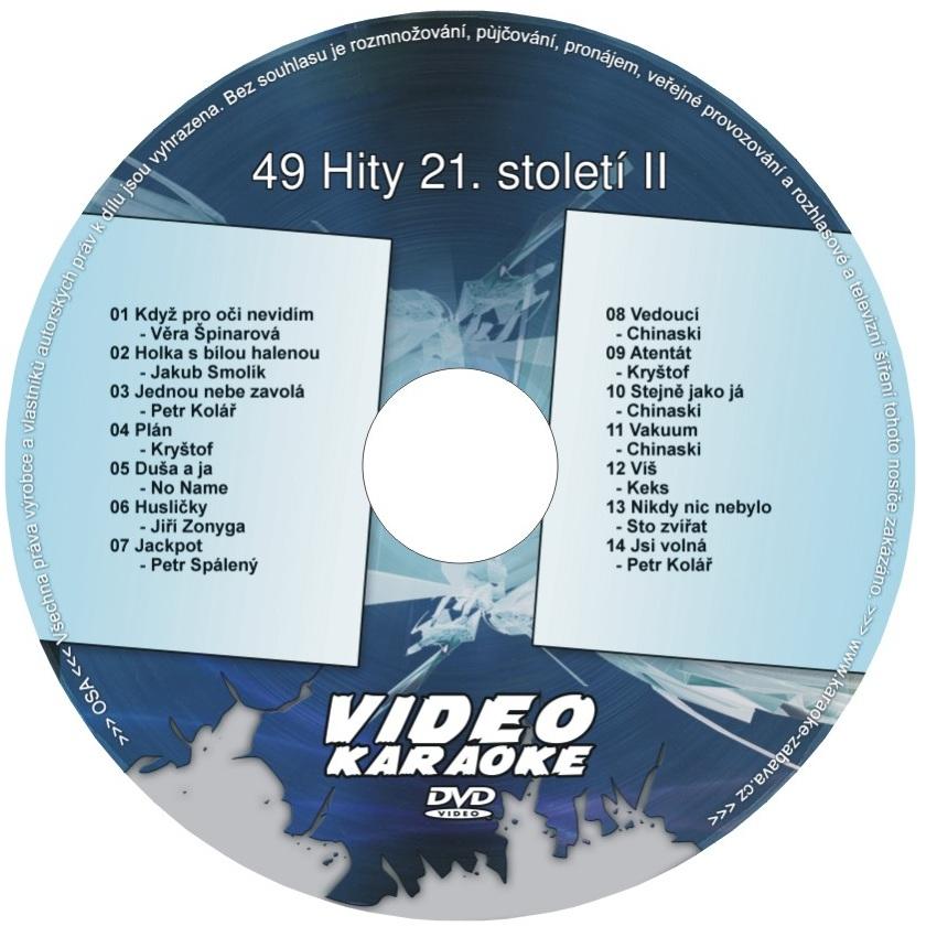 KARAOKE ZÁBAVA: Karaoke DVD 49 Hity 21. století II