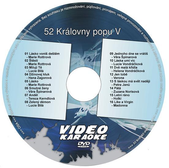 KARAOKE ZÁBAVA: Karaoke DVD 52 Královny popu V
