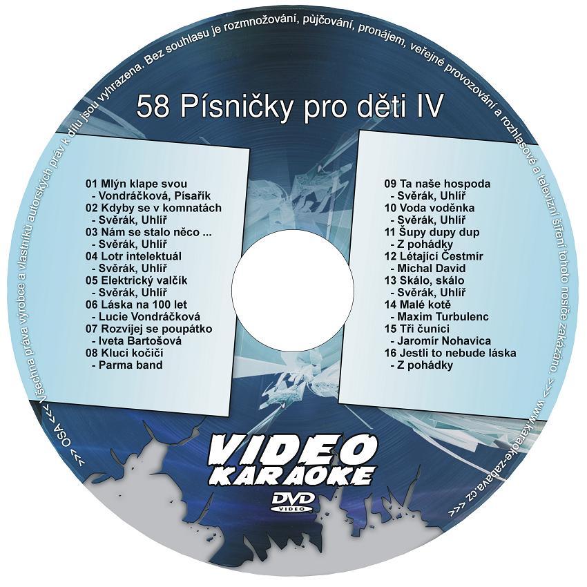 Karaoke  58 Písničky pro děti IV