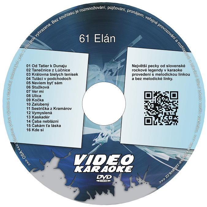 KARAOKE ZÁBAVA: Karaoke DVD 61 Elán