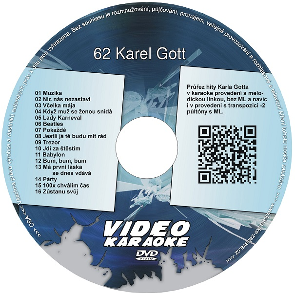 KARAOKE ZÁBAVA: Karaoke DVD 62 Karel Gott