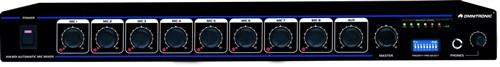 Omnitronic AM-801 - Automatický mixážní pult, 8 vstupů
