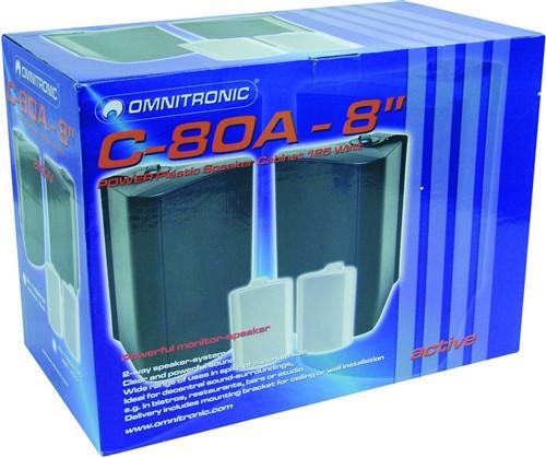 Omnitronic C-80A černé, reproboxy 125W - Cena za pár!