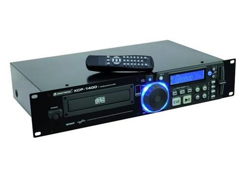 Omnitronic XCP-1400, CD přehrávač - Antishock, Pitch Bend, Cue, Loop/Reloop