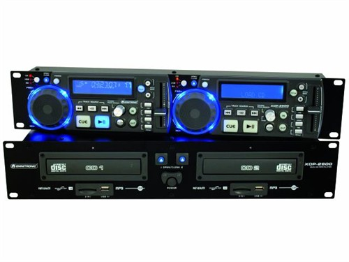 Omnitronic XDP-2800, dvojitý přehrávač CD/MP3/USB/SD, 19