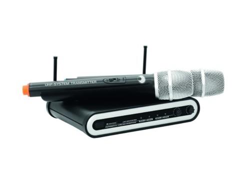 Omnitronic UHF-202 bezdrátový mikr. 2 kanálový, 863.01+864.30 MHz - UHF