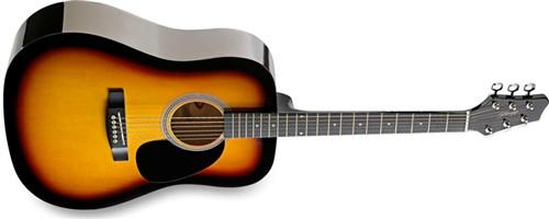 Stagg SW201SB, akustická kytara - Akustická kytara typu Dreadnought