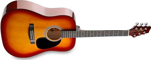 Stagg SW201CS, akustická kytara - Akustická kytara typu Dreadnought