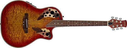 Stagg A2006-CS, elektroakustická kytara - Elektro-akustická kytara typu Ovation s nízkým tělem s výkro