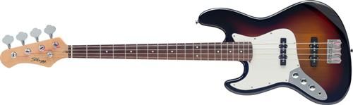 Stagg B300LH-SB, baskytara levoruká - Baskytara typu Jazzbass pro leváky