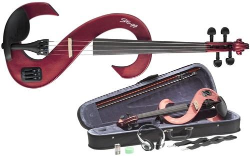 Stagg EVN 4/4 MRD - 4/4 elektrické housle