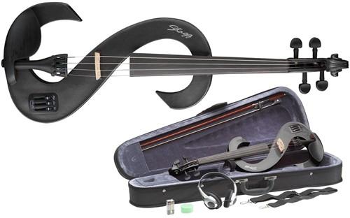 Stagg EVN 4/4 MBK, elektrické housle - 4/4 elektrické housle