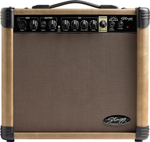 Stagg 20 AA R, kombo pro el. akustickou kytaru, 20W - 20 W akustické kombo