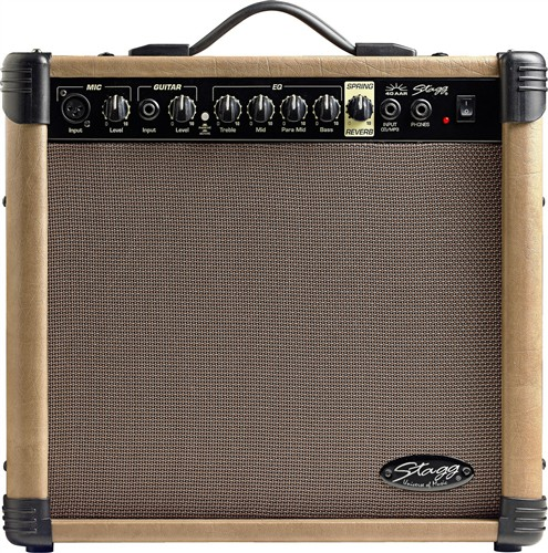 Stagg 40 AA R, kombo pro el. akustickou kytaru, 40W - 40 W akustické kombo