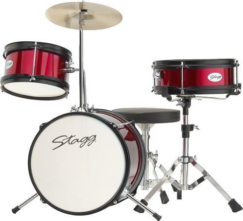 Stagg TIM JR 3/12 RD, dětská bicí sada, červená - Sada bicích TIM Junior 3-dílná