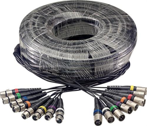 Stagg SML30/8XF8XM E - Vícežilový kabel, 8 x XLR samice/8 x XLR samec, 30 m