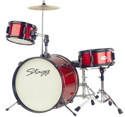 Stagg TIM JR 3/16 RD MK II, dětská bicí sada, červená - Sada bicích TIM Junior 3-dílná
