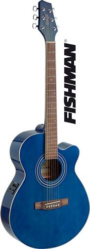 Stagg SA40MJCFI-TB, elektroakustická kytara - Mini Jumbo s výkrojem a elektronikou FISHMAN