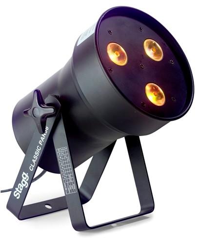 Stagg LED PAR 3x8W QCL DMX černý, LED reflektor - LED PAR 3x 8W QCL, RGBW, DMX