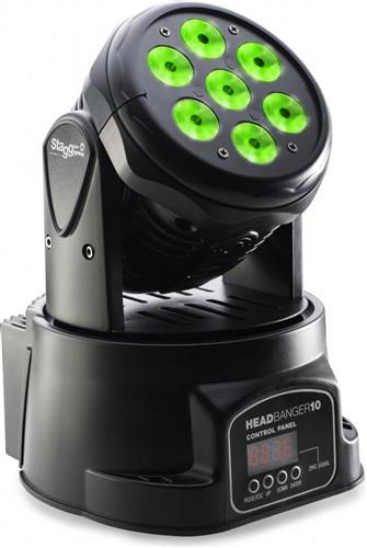 Stagg LED otočná hlavice 7x10W QCL DMX - 7x 10W QCL LED, DMX