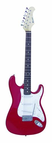 Dimavery ST-203, elektrická kytara, červená - Elektrická kytara typu Strat
