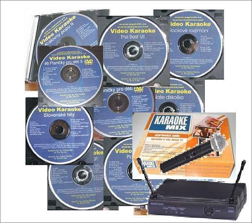 Bedna plná karaoke - Maxiset, vysílačka a 15 DVD dle vlastního výběru