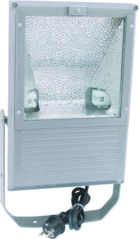 Eurolite Outdoor Spot 70W WFL stříbrný - přední pohled s vidlicí 220 V